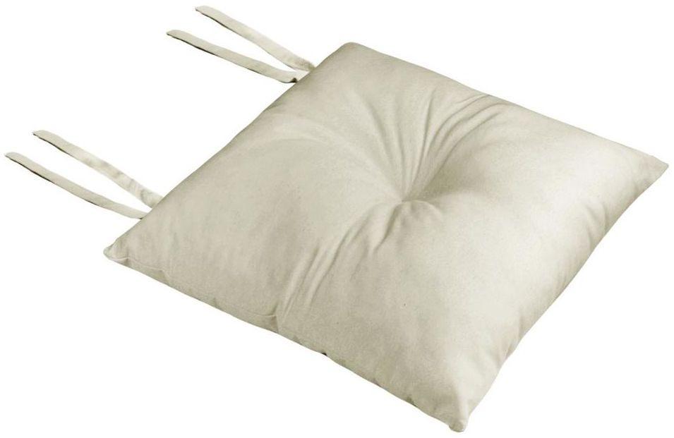 Poduszka na krzesło Silla Loneta kremowa 40 x 40 x 8 cm