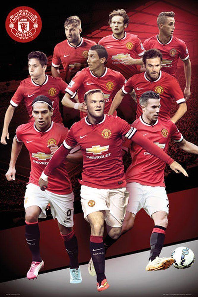 empireposter  piłka nożna  Manchester United  kolaż 14/15  rozmiar (cm), ok. 61 x 91,5  plakat, nowy