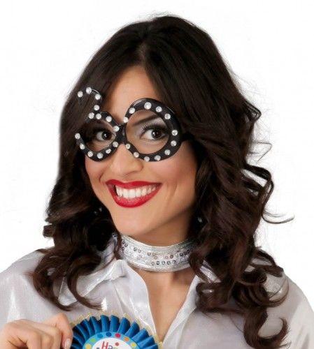 """Okulary imprezowe na 30 urodziny """"Black and diamonds"""""""