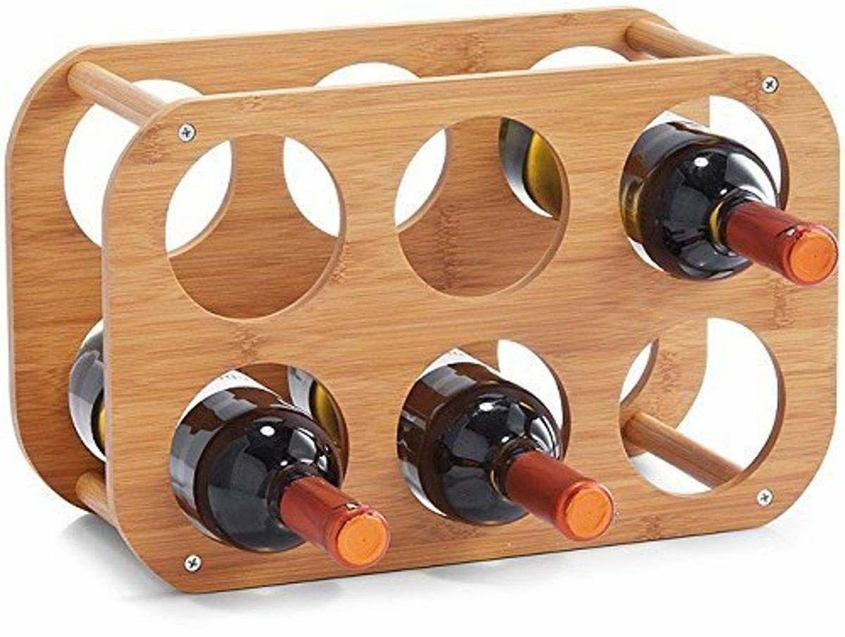 Bambusowy regał na wino Zeller 13559, ok. 38 x 16 x 24 cm