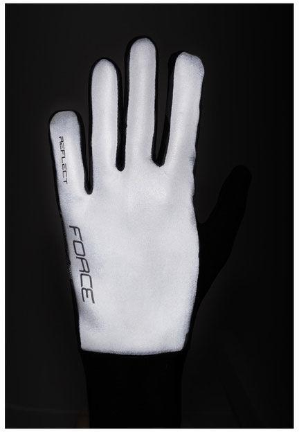 FORCE REFLECT odblaskowe ciepłe rękawiczki sportowe 90467 Rozmiar: 2XL,90467