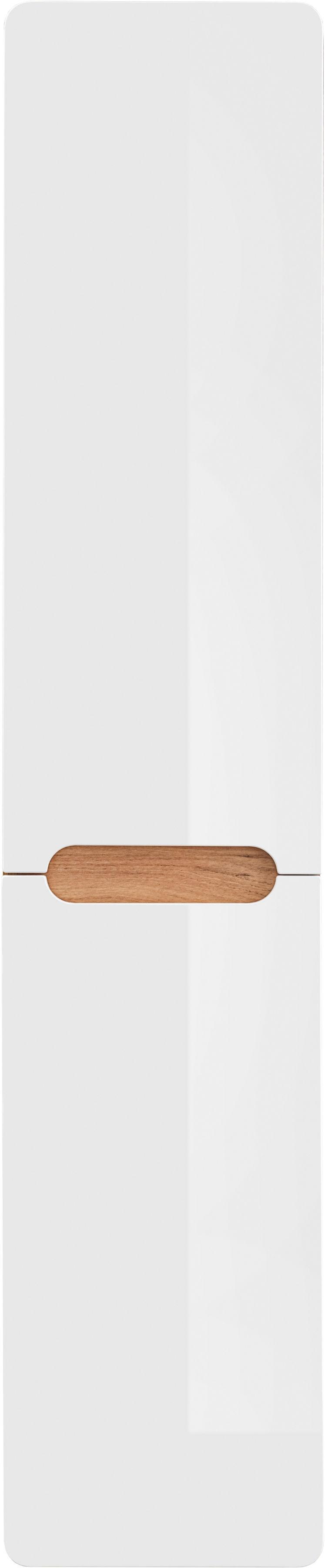 Comad ARUBA WHITE 804 Słupek łazienkowy 170x35 z koszem Dąb Craft złoty / Biały Połysk