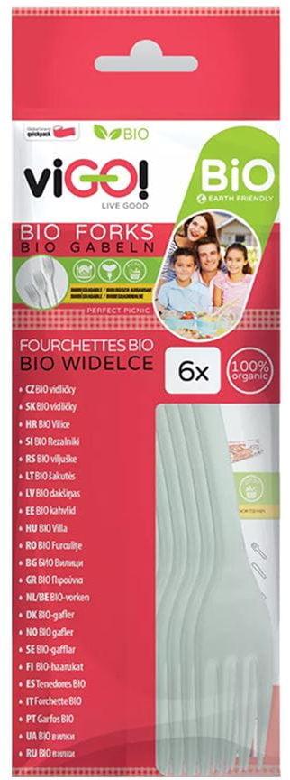 Biodegradowalne Widelce 6 sztuk - viGO!