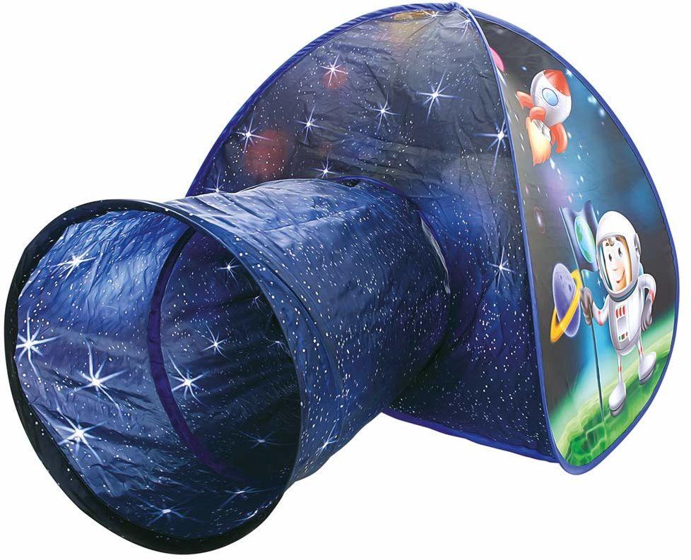 Bino 82824 namiot do zabawy dla małych dzieci z tunelem do raczkowania. Domek do zabawy na świeżym powietrzu i wewnątrz. Namiot nadaje się dla dzieci w wieku od 36 miesięcy. Rozmiar: 80 x 160 x 95 cm