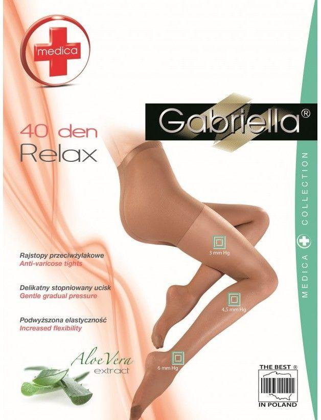 Relax 40 den Gabriella prześwitujące rajstopy