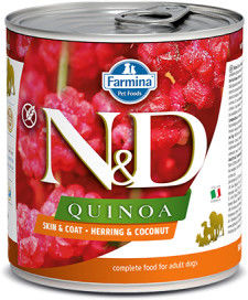 N&D DOG QUINOA HERRING COCONUT ADULT 285G
