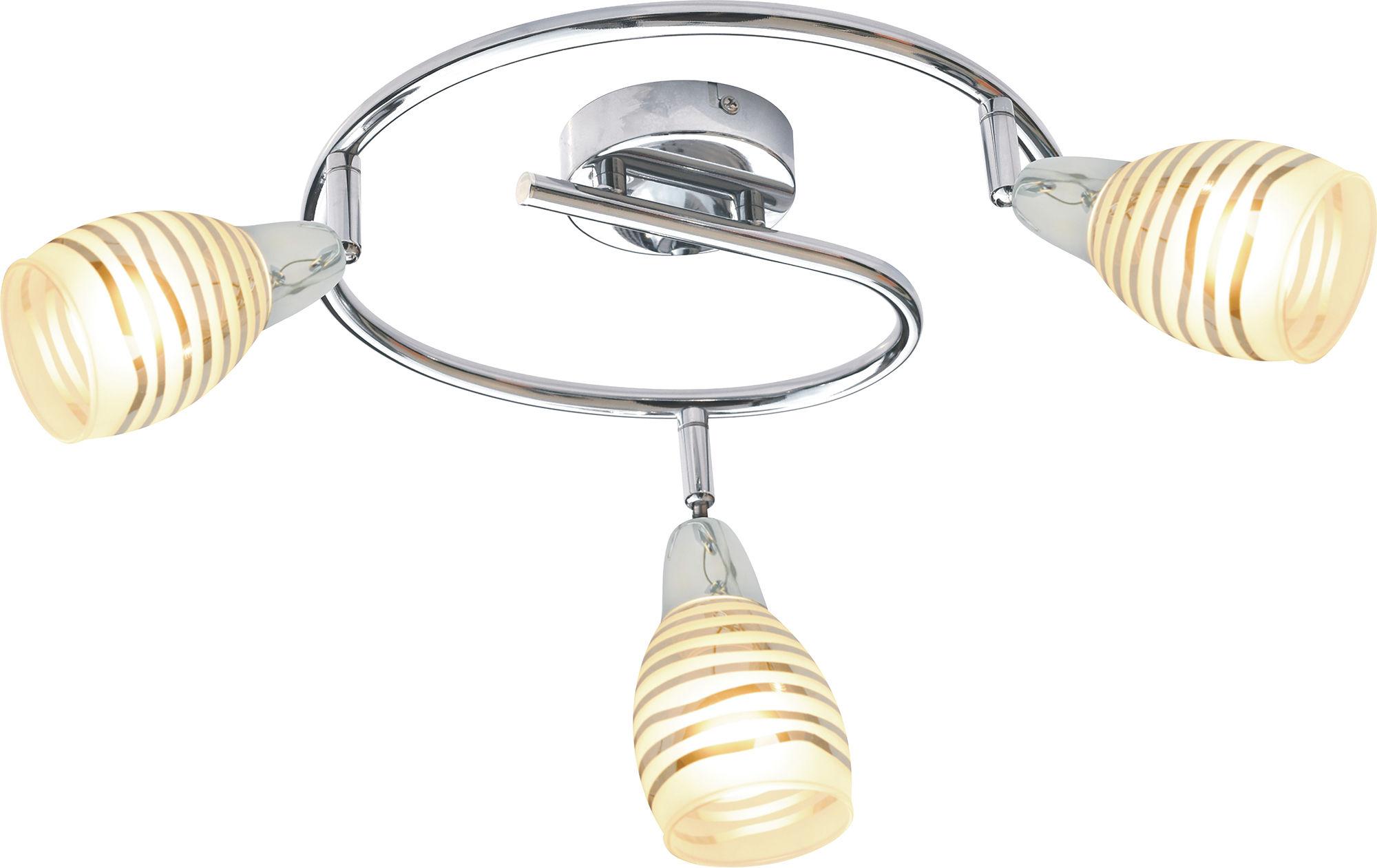 Candellux JUBILAT 98-55705 plafon lampa sufitowa chrom szklany klosz 3X10W E14 LED 38cm