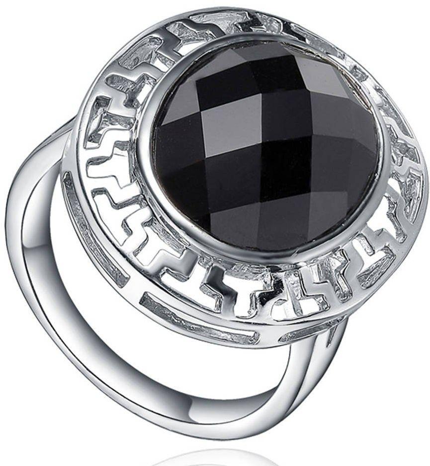 Srebrny Pierścionek z Czarnym Onyksem