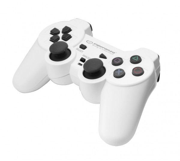 EGG106W Gamepad PC/PS3/PS2 USB Corsair biało-czarny Esperanza