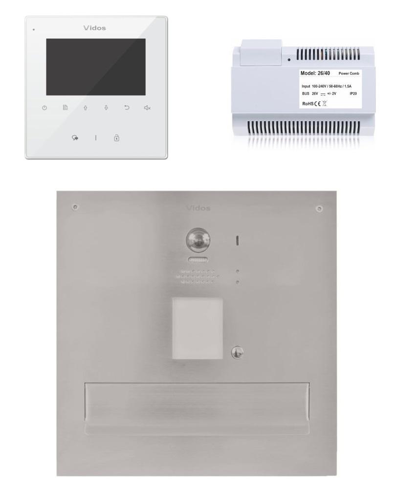 Skrzynka na listy vidos duo z monitorem m1022w/s1201-sk - możliwość montażu - zadzwoń: 34 333 57 04 - 37 sklepów w całej polsce