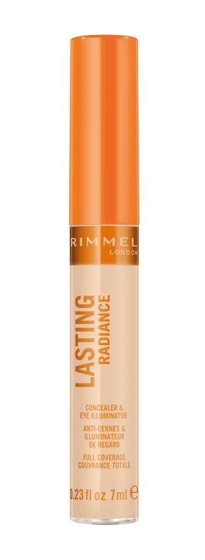 RIMMEL - LASTING RADIANCE - Concealer & Eye Illuminator - Korektor rozświetlający pod oczy i do twarzy - 010 IVORY
