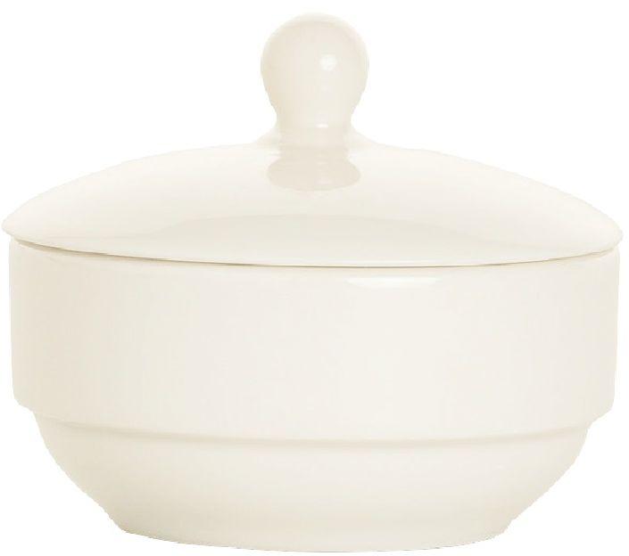Cukiernica z pokrywką porcelanowa CREMA