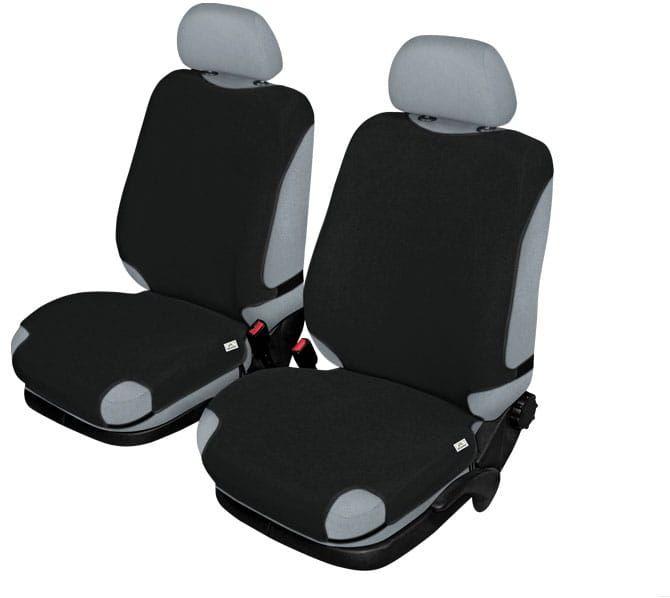 Pokrowce koszulki SHIRT AIRBAG na przednie fotele, czarne