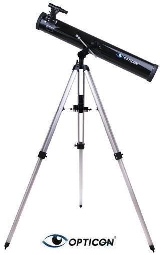 Teleskop Astronomiczny OPTICON HORIZON EX + Duży Statyw + Mapy/Plakaty Nieba + Program i Akcesoria.