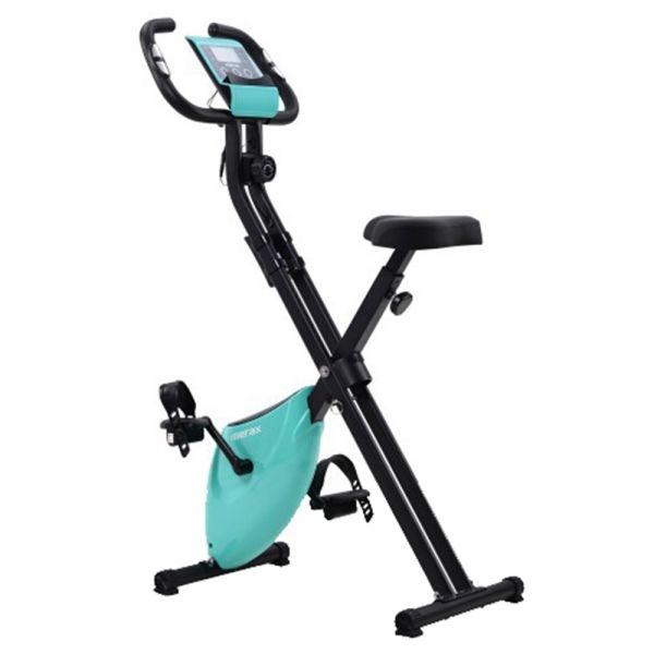 Składany rower treningowy Merax X-Bike 2 - niebieski