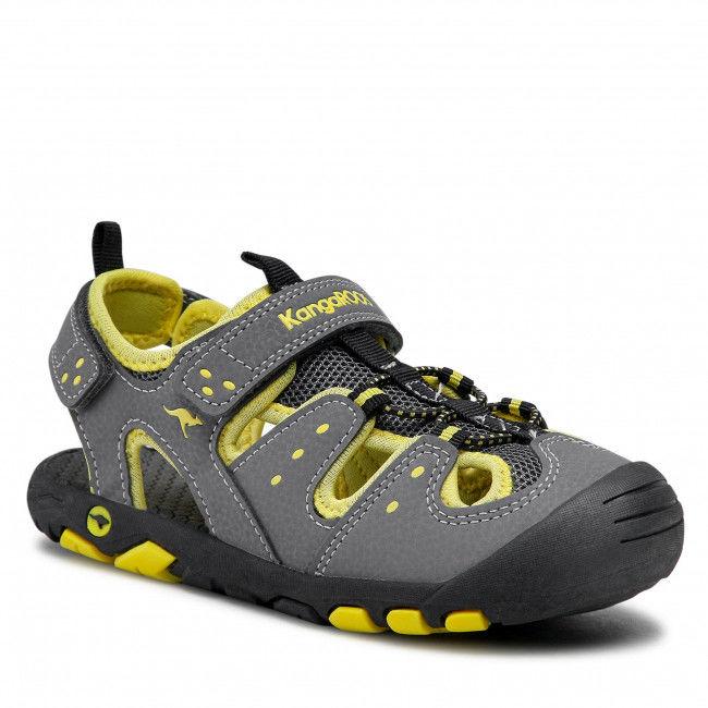 Sandały KANGAROOS - K-Trek 18731 000 2090 Steel Grey/Neon Yellow