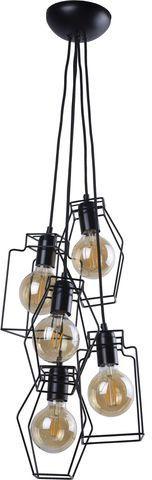Lampa wisząca Fiord 9665 Nowodvorski Lighting czarna oprawa w nowoczesnym stylu