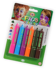 Kredki Farby Face Deco do malowania twarzy 6kol
