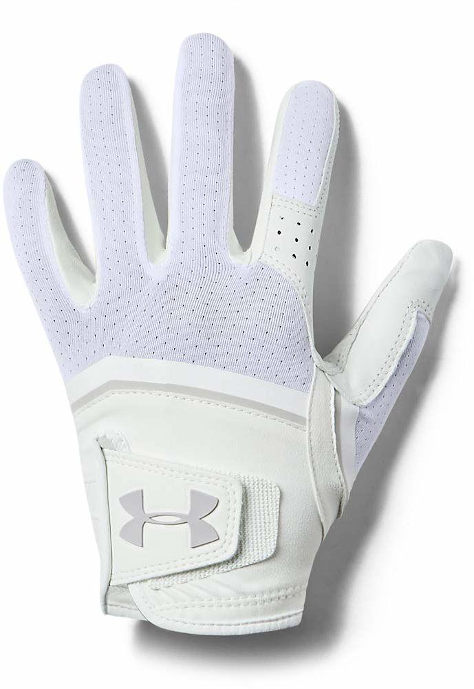 Under Armour Damskie rękawiczki Coolswitch do golfa, białe/aluminiowe, RMD