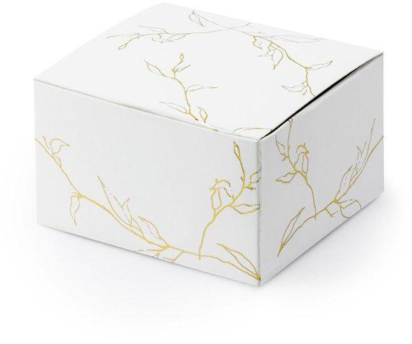 Pudełeczka dla gości złote Gałązki 10 sztuk PUDP27-008-019