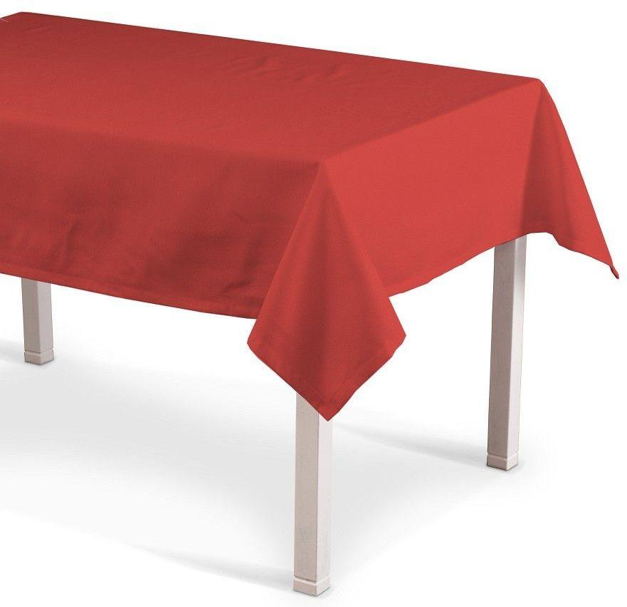 Obrus prostokątny, czerwony, 130  210 cm, Loneta