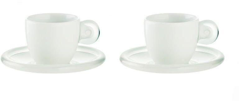 Guzzini - gocce - kpl. 2 filiżanek do espresso, biały