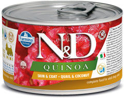 N&D DOG QUINOA QUAIL COCONUT ADULT MINI 140G