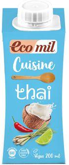 Krem do Gotowania Tajski z Mleczkiem Kokosowym i Curry BIO 200ml - Ecomil