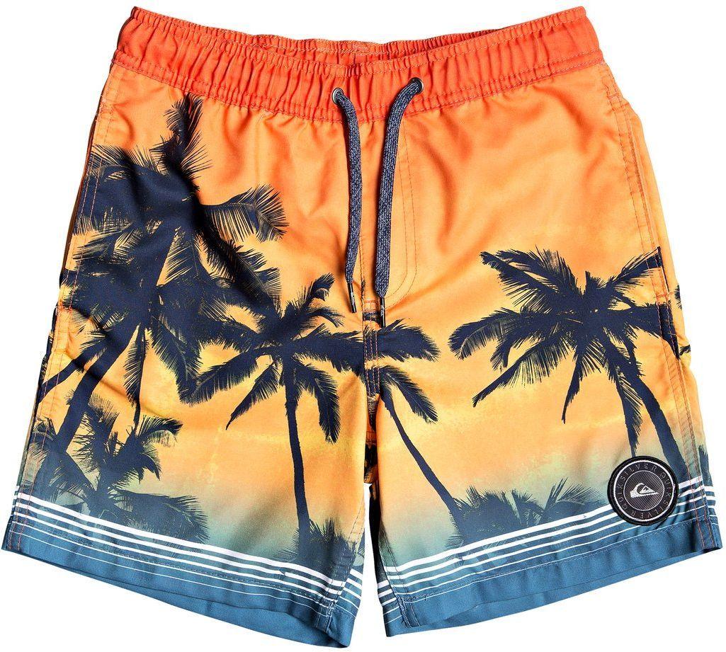 spodenki pływackie dziecięce QUIKSILVER PARADISE VOLLEY 15 YOUTH Tiger Orange - NME6