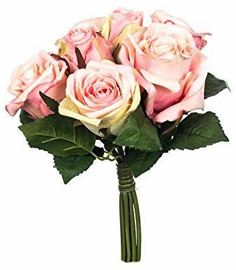 EUROCINSA Ref.87600C21 bukiet z 7 różami, pudełko 3 sztuki, różowy, 19 x 28 cm