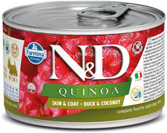 N&D DOG QUINOA DUCK COCONUT ADULT MINI 140G