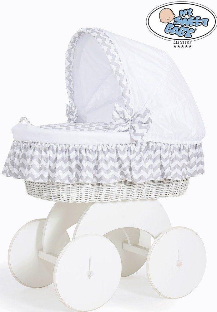 Kosz Mojżesza szara Hannah 70102902-My Sweet Baby, kosz dla niemowlaka