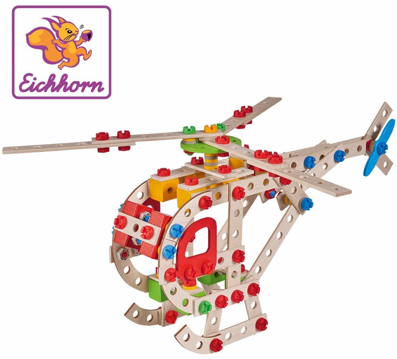 Simba 100039098 Eh Klocki Konstrukcyjne - Helikopter, 225 Elementów 100039098 ,kolorowy