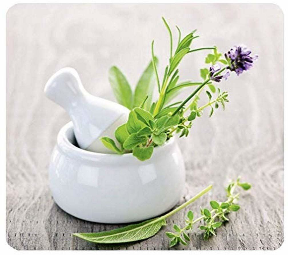 WENKO Multi blat roboczy ziołowy ogród - do szklanych kuchenek ceramicznych, deska do krojenia, hartowana, wielobarwna, 50 x 56 x 0,5 cm