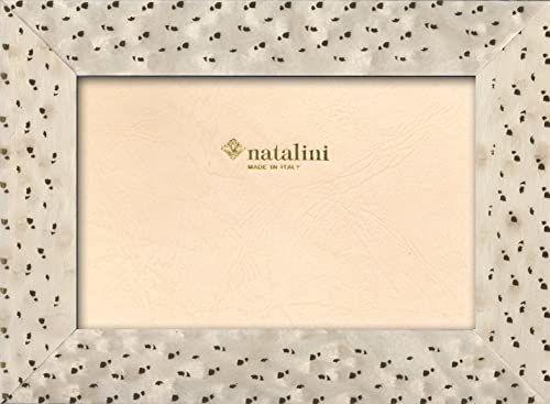 Natalini Marquetry ramka na zdjęcia wykonana we Włoszech, tulipan, biała, 10 cm x 15 cm