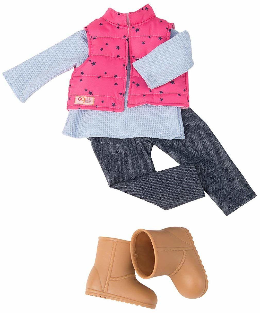 Our Generation 44453 Vest & Jeggings Outfit, 18 cali / 46 cm