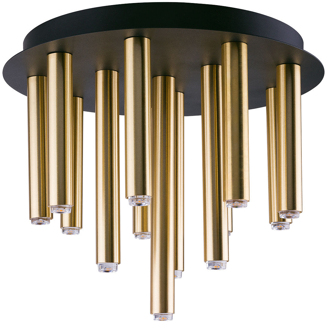 Plafon Stalactite 9054 Nowodvorski Lighting czarno-mosiężna nowoczesna oprawa sufitowa
