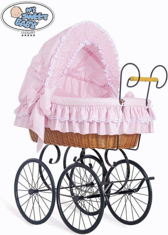 Kosz Mojżesza różowa Victoria 2100173-My Sweet Baby, kosz dla niemowlaka