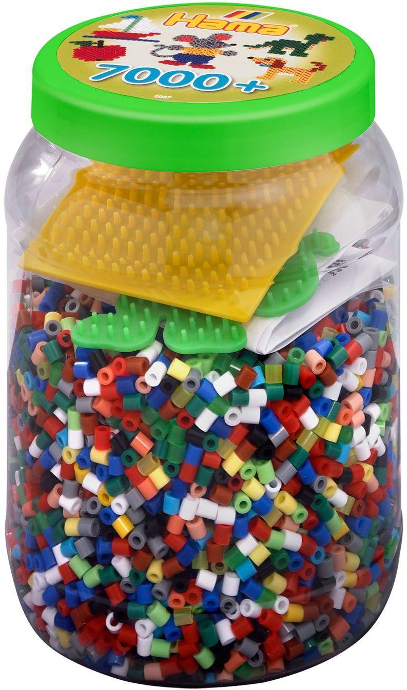Hama 2087 - puszka z koralikami do prasowania, ok. 7000 pereł i akcesoriów