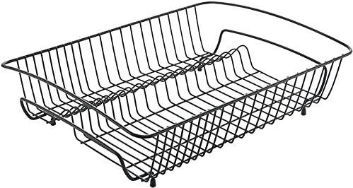 Metaltex Prostokątny ociekacz, czarny, 50 x 37 x 14