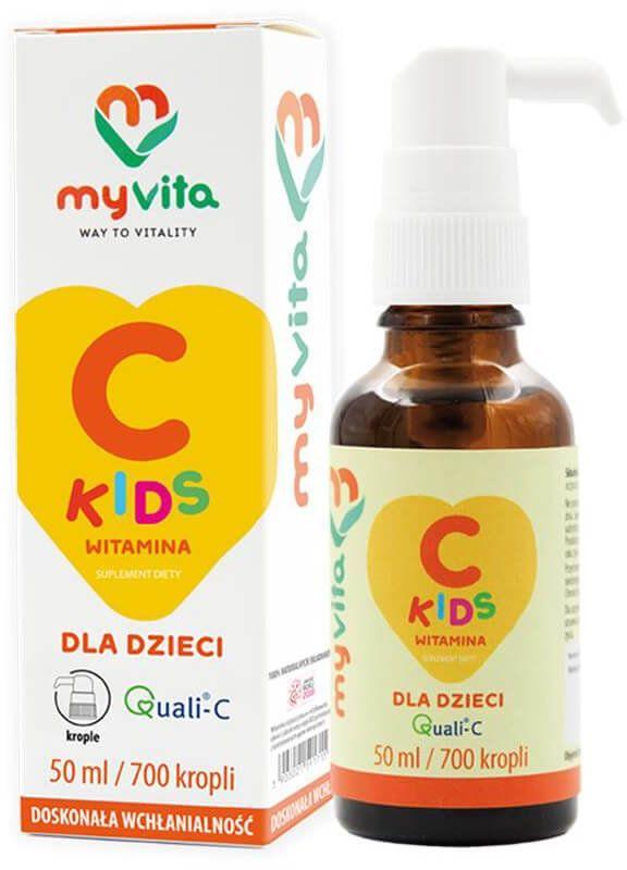 Witamina C Kids dla Dzieci w płynie 50 ml Krople MyVita