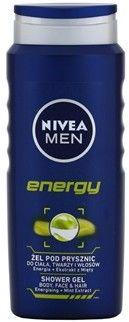Nivea Men Energy żel pod prysznic do twarzy, ciała i włosów 500 ml