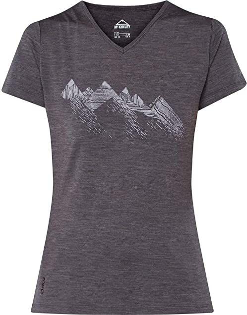 McKINLEY Saao t-shirt damski, melanż/antracyt