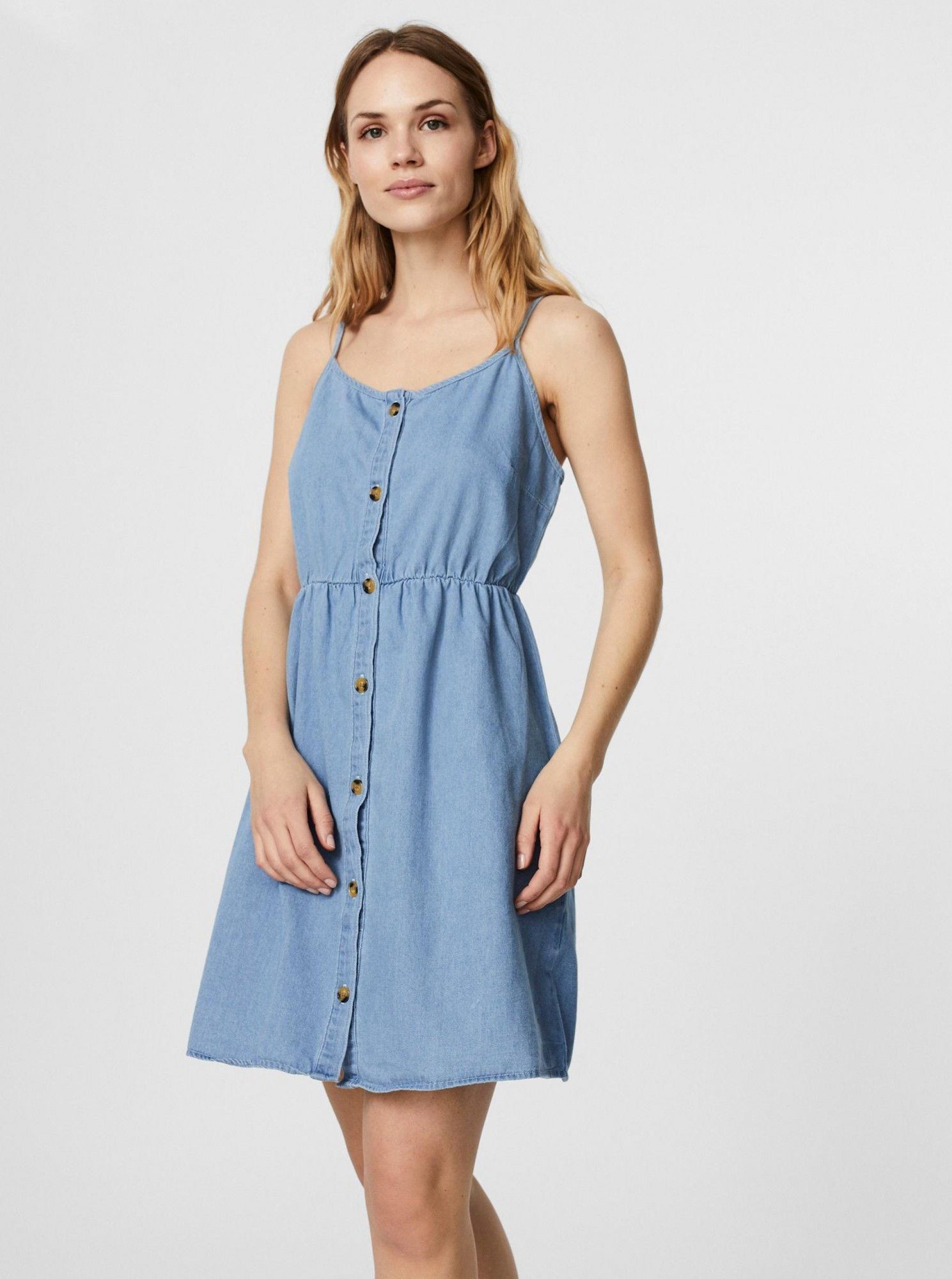 Vero Moda niebieski dżinsowa sukienka Flicka