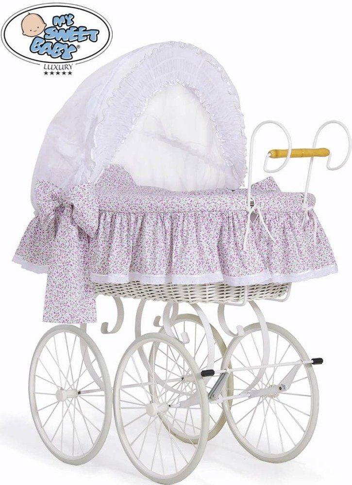 Kosz Mojżesza różowa Jasmine 72100913-My Sweet Baby, kosz dla niemowlaka