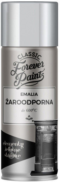 Emalia żaroodporna do 600 C Forever Paints 400 ml srebrna