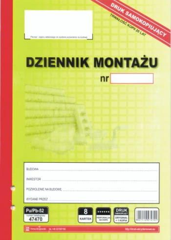 Dziennik montażu [Pu/Pb-52]