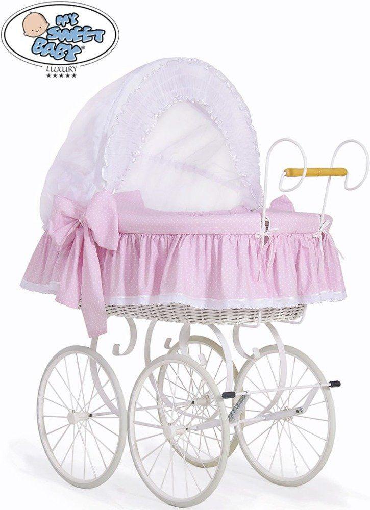 Kosz Mojżesza różowa Christine 72100917-My Sweet Baby, kosz dla niemowlaka
