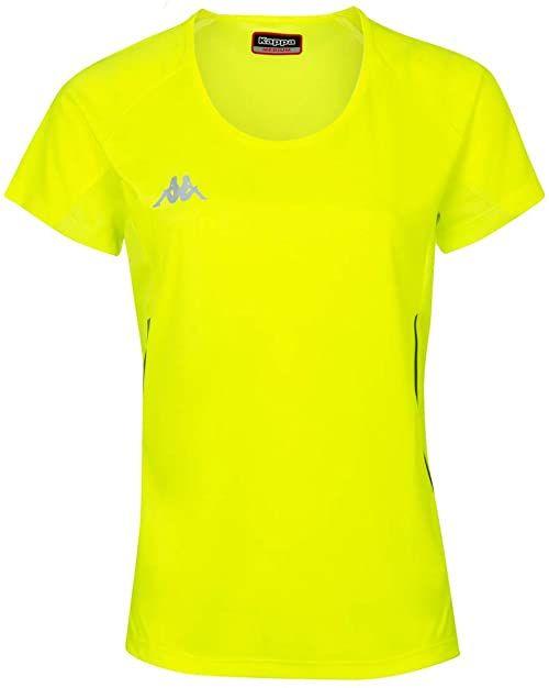 Kappa Damski Fania T-shirt techniczny, żółty (Amarillo Fluor), 12Y