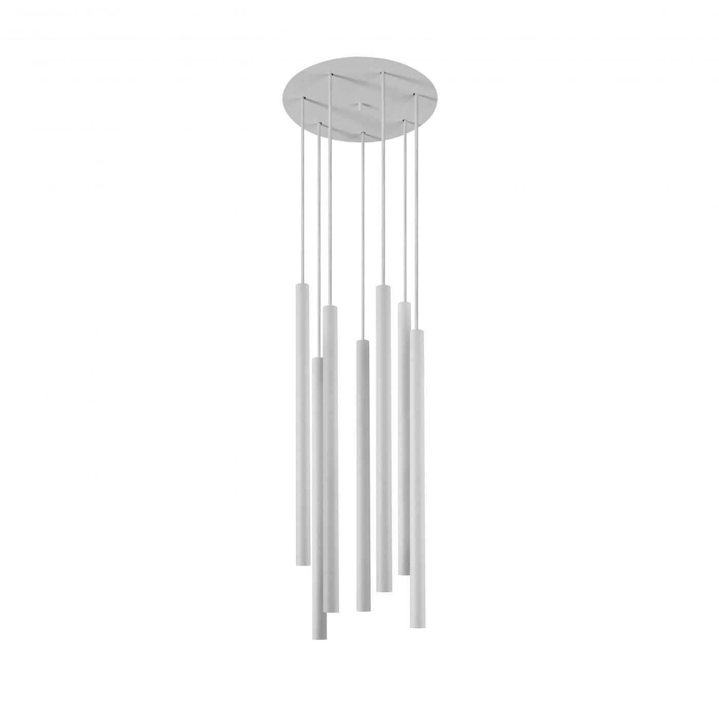Żyrandol Laser 8918 Nowodvorski Lighting biała oprawa w nowoczesnym stylu